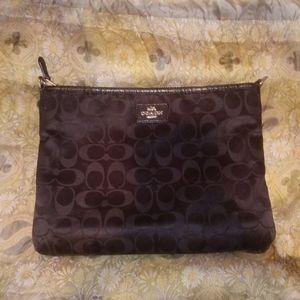 COACH Black Satiny Clutch Case Bag